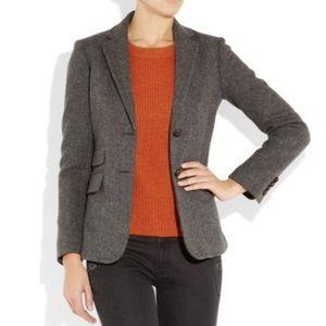 J. Crew Hacking Jacket Blazer Gray Size 0 for sale